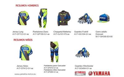 resumen catalogo ropa yamaha