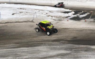 Diversión y espectáculo de los Yamaha YXZ1000R sobre el hielo andorrano